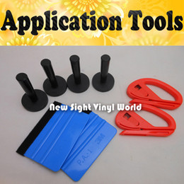 Wholesale Cutter For Car - 4PCS Magnet Holder 2PCS 3M Felt Squeegee 2PCS Vinyl Cutter Car Vinyl Application Tool For Car Wrapping
