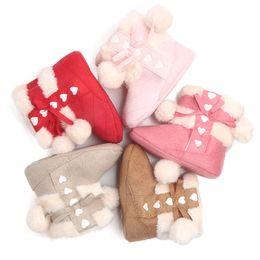 weihnachten baby walker schuhe Rabatt Winter Baby Kinder Weihnachten Schuhe Mädchen Baby bequeme warme Wanderer Schuhe 4 Farben Größe 12/13/14