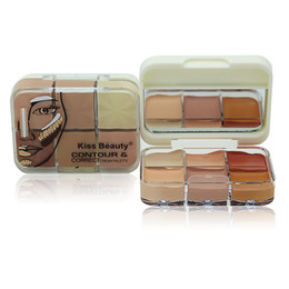 Wholesale Make Up Palette Camouflage Concealer - Professional Cosmetic Salon Party 6 Colors Camouflage Palette Face Cream Makeup Concealer Palette Make up Set Tools