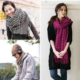 las nuevas mujeres calientes de la bufanda de la tela escocesa larga de la mezcla de las lanas de los hombres del invierno envuelven el mantn el