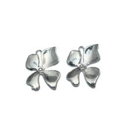 Wholesale Orchid Pendant - Beadsnice silver plated orchid connector pendant charm wholesale finding wedding jewelry flower connector nickel free lead free ID 28991