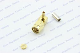 Wholesale Sma Angle - 50 pcs\lot Right Angle SMA Plug Crimp Goldplated Connector RF Connector for RG316 RG174 RG179 RG188 Free Shipping