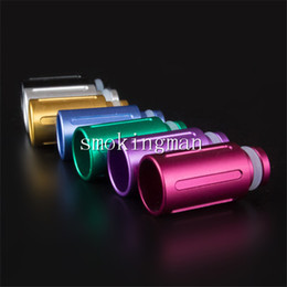 Wholesale T2 Aluminum Drip Tip - Colorful aluminum drip tip Wide bore Muffler Drip Tips fit 510 Atomizer Mouthpieces RAD RBA EVOD glass MT3 T2 LONG wax coil e cigarette mod