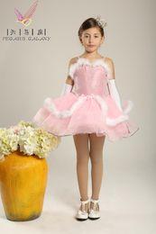 Wholesale Kids Ballerina Dress - leotardos girls ballerina dress balet girls Flower girl dress girls dress costumes New Kids dance tutu princess dress winter dress moderator