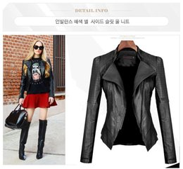 Wholesale Short Leather Jackets For Ladies - 2015 new women fashion leather jacket coat Female PU leather jacket outerwear for winter Ladies black leather clothing for womens