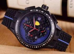 Wholesale Gold Orange Gem - Top suplier Luxury Brand watches men rubber strap Watch quartz chronograph sports watch Mens dress WristWatches