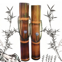 Wholesale Material Water - New 12 Inch Water Pipes Bamboo Water Bong Mini Bamboo Material Smoking Accessories Pipes Bamboo Bong For Smoking Free Shipping