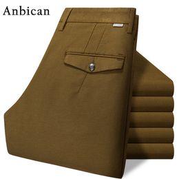 Брюки мужские повседневные брюки chinos онлайн-Wholesale- Anbican Brand High Quality Winter Corduroy Pants Men Full Length Straight Trousers Slim Fit Mens Chinos Casual Pants fm831
