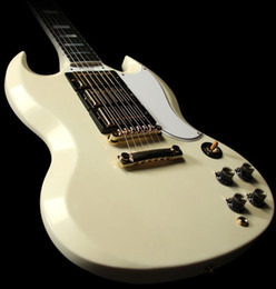 Wholesale Guitar Pickups High - 2014 Newest Cream SG 3 Pickups 400 Custom Electric Guitar Wholesale OEM High Quality