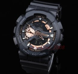 Wholesale Glass Top Display - Top quality AAA sports Men Watch Auto light Waterproof Watch ga110 Display army military shocking watches ga110 men watch With original Box