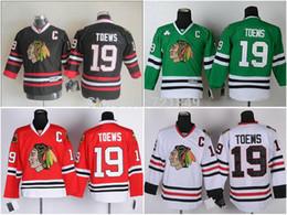 81553e6df 30 Teams-Wholesale Youth Chicago Blackhawks  19 Jonathan Toews Ice Hockey  Jerseys red black kids size S M L XL