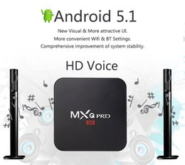 Wholesale Bluetooth Standards - MXQ Pro Android TV BOX Amlogic S905 Quad Core MXQPro 1000M LAN 1GB 8GB Bluetooth 4.0 H.265 KDPLAY