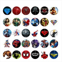 Wholesale Clasps For Charms - newest Superheroes snap button jewelry charm popper for bracelet 30pcs   lot GL036 noosa,jewelry making supplier