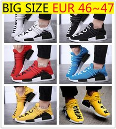Wholesale Light Running Shoes Free - New ship clover NMD HumanRace human race black men and women running shoes sports running shoes for mens sneakers free shipping size 36-47