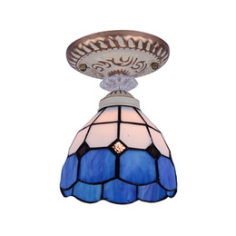 Tiffany Glass Pasillo Pasillo Lámpara de techo Accesorios de la entrada europea Foyer Techo Luces colgantes Cocina Balcón Luz de techo desde fabricantes