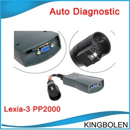 Wholesale Tester China - Hot Selling Lexia3 V48 Lexia Lexia-3 V7.65 PP2000 Diagnostic Tool for Citroen Peugeot DHL China Post Free Shipping