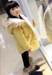 Wholesale Cotton Padded Jacket Baby - Good quality2015 children's wear new winter coat thickening of the girls in long children cotton baby cotton-padded jacket winter jacket