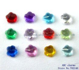 Wholesale Cheap Charms For Living Lockets - 60pcs 4mm Mix Color Flower Birthstone Floating charms for Living Memory Floating locket Charms Cheap Charms