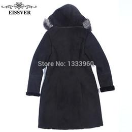 Wholesale Double Hood Jacket - Wholesale-Super large luxury sheepskin leather clothing genuine sheepskin fur coat Noble winter fur jacket outerwear Wholesale Retail OEM