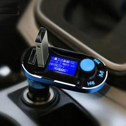 Double sd mp3 en Ligne-2,015 New Hot Vente Bluetooth Car Kit mains libres Lecteur MP3 Transmetteur FM Dual USB 2 Chargeur Support SD Line-in AUX