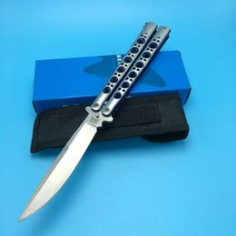 Wholesale Folding Box Spring - Benchmade BM42SBL Butterfly Balisong Spring Latch tactical EDC gift knife knives new in original box BM42 43 41 47 3300 3350