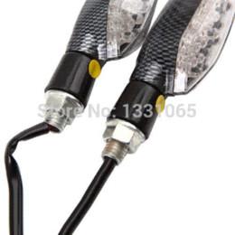 Wholesale Led Carbon Fiber Turn Signal - Free shipping 4* 15 LED Waterproof Carbon Fiber Moto Taillight Brake Turn Signal Light Blinker light lin