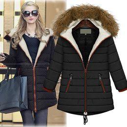 Wholesale Down Coat Europe - Plus Size 5X Lady Parka Europe New Winter Fashion Womens Cotton Coats For Female Casual Jacket Warm Parker