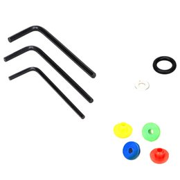 Wholesale Nipple Rubber Bands - Wholesale-Tattoo Machine Rubber Band Shockproof O-ring Grommets Nipples Wrench Spacers Tattoo Kit