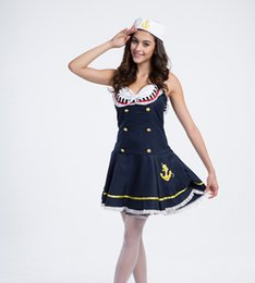 Wholesale Navy Sailor Dress - The European And American Ladies Fancy Sailors Costume Navy Cosplay Costume Uniforms Temptation Navy Sailor Dress Sexy Service Clothing