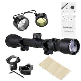 Wholesale Zoom Rifle Scopes - 2016 Hot 3-9x40 Zoom Rifle Optics Scopes Telescopic Reviews Sight Hunting Scopes With Mount For Hunting