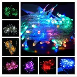Cintilação de luzes de cordas de natal on-line-DHL Led luz Natal louco venda 10 M / PCS 100 LED string Decoração Luz 110 V 220 V Para Festa de Casamento levou natal twinkle iluminação