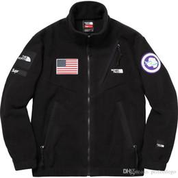 Wholesale Cotton Fashion Cardigan - X TNF 17ss Trans Antarctica Jacket Men Women Coats Fashion Outerwear Top Quality Black S~XL