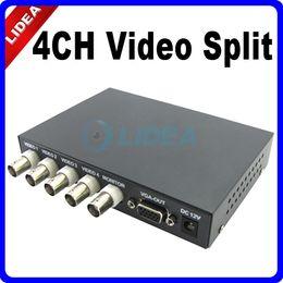 Wholesale Cctv Color Splitter - 4CH Color Video Splitter Quad Processor for CCTV System CN B-19