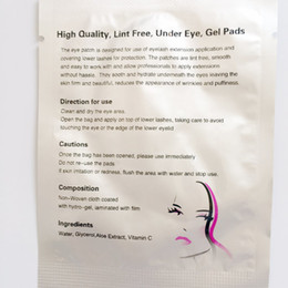 Wholesale Eyelash Silk - 50 pairs silk eye pads, under eye patch,eyelash extension eye pads from south korea free shipping