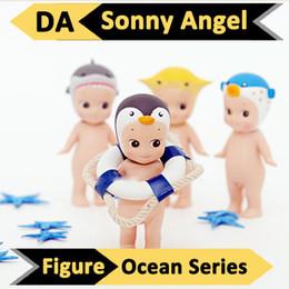Wholesale Mini Doll Figurine Wholesale - Wholesale-2 Pcs lot Large Size Sonny Angel Ocean Sea Series Dreams Baby Dolls Action Figure Figurine decoration ocean sea enfeites de mar