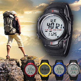 Wholesale Mountaineering Watches - Branded Watches Mens Top Brand Luxury Climbing Waterproof Outdoor Mountaineering Sports Men Digital Watch LED Quartz Wrist Watch