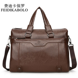 Wholesale Luxury Business Bags For Men - FEIDIKABOLO Luxury Brand Male Leather Bag Men Bags Men's Travel Bag Briefcase Crossbody Bags Business Handbags For Man Shoulderg