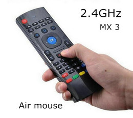 Wholesale Axis Keyboard Controller - HOT MX3 2.4GHz Wireless Keyboard Air Mouse Remote Controller Somatosensory IR Learning 6 Axis without Mic for Android TV Box Smart IPTV