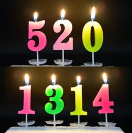 Wholesale Home General - Digital 0-9 Candle Home And Garden Festive Party Supplies Festive Sale Check Out Birthday Candle Color Candles CCA8059 5000pcs