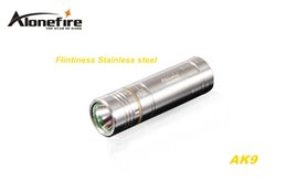 Wholesale Craft Travel - SKU1234 AloneFire AK9 CREE XPE R2 LED 5 mode Stainless steel Exquisite craft mini flashlight torch