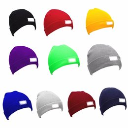 Wholesale Vintage Beanie Hats - Snapback Hats LED Light Cap Beanie Hat with 2 Batteries for Hunting Camping Running Fishing Vintage Hats