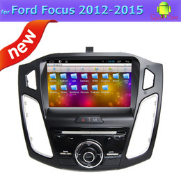 Wholesale Dvd For Ford Focus - Quad Core 2 Din Car Dvd Players for Ford Focus 2015 with GPS FM Radio BT TV 3G OBD Mp3 Mp4 Andorid 4.4 System