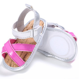 Wholesale Summer Breathable Jelly Shoes - Wholesale- Summer Kids Hollow Out Breathable Flat Jelly Shoes Soft PU Leather Prewalker 0-18M