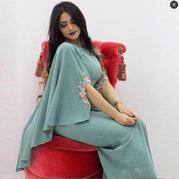 Wholesale Short Queen Dresses - Elegant Arabic Teal Evening Dresses Long Hot Formal Party Dresses with Wrap Appliques Queen Prom Gowns Plus Size Special Occasion Women Wear