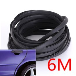 Wholesale Door Guards Black - 6M Black Moulding Trim Strip Car Door Scratch Protector Edge Guard Cover Crash order<$15 no tracking