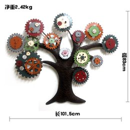 Wholesale Wall Adornment - Hang a picture, wrought iron bar gear tree adornment wall act the role of metope decorate adornment art on the wall
