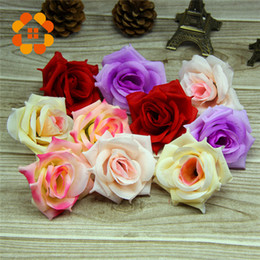 Wholesale Ball Display - 2016 Simulation Big Rose Artificial Flowers Ball Head Brooch Festival Home Decor Wedding Decoration Decorative Flower Silk Flower HJIA048