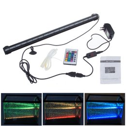 Wholesale Led Air Tubes - 2016 Special Offer Piscine Led Swimming Pool Light Underwater 18 Led Rgb Colorful Air Bubble Aquarium Light Fish Tank Coral Lamp Tube Hot