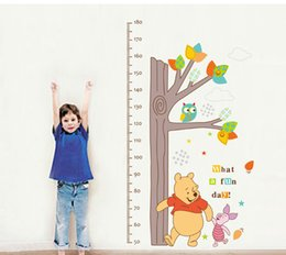 Wholesale Measure Wall Stickers - Fashion cartoon height sticker bedroom wall sticker home decoration children's living room height measuring wall decor