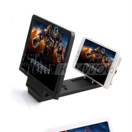 Wholesale Foldable Magnifier - Wholesale Foldable Portable Mobile Phone Screen Magnifier HD Amplifier Expander Stand Holder For iPhone HTC Samsung note5 Smart Device